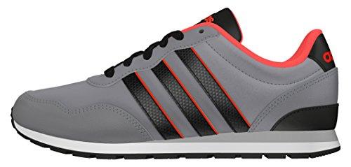 adidas V Jog K, Zapatillas de Deporte Hombre, Gris (Gris/Negbas/Rojsol), 36 2/3 EU