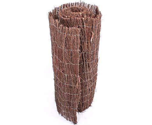 bambus-discount.com Heidematte günstig aus Heidekraut 200 x 500cm, ca 1cm Dicke Sichtschutzmatte Premium Qualität - ca. 0,9kg/m²