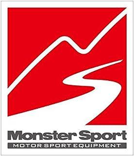 MONSTER SPORT ステッカー【マークステッカー (ホワイト×ガンメタ×レッド)】120×140 ZZZB30