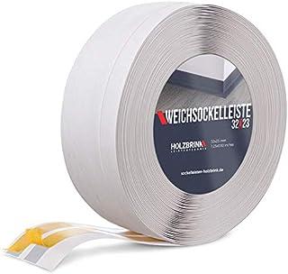 HOLZBRINK Rodapiés flexible autoadhesivo Abedul Rodapiés flexible 32x23 mm, 10 m Zócalo Autoadhesivo