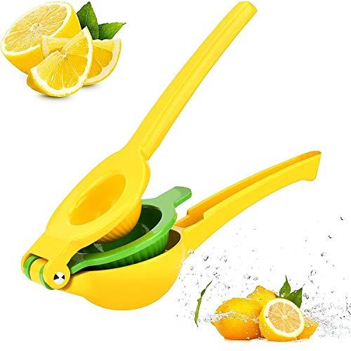 JHJLIB Zitronenpresse, Handpresse Entsafter, Neu 2-in-1 Manuelle Zitruspresse-Limettenpresse für Zitronen und Limetten, Manuelle Saftpresse, Anti-Ätzmittel Spülmaschinenfest