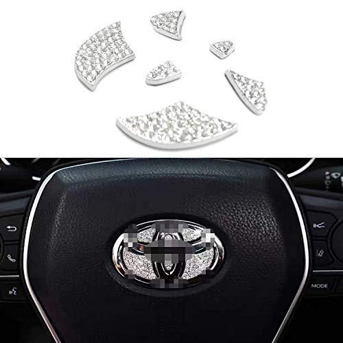 AEEIX Bling Bling Car Steering Wheel Decorative Diamond Sticker Fit For Toyota,DIY Bling Car Steering Wheel Emblem Bling Interior Accessories for Toyota Camry, Corolla, Rav4, 4runner, Highlander