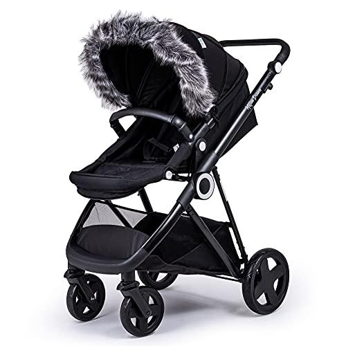For-Your-Little-One aFHACWAD-DG6 - Pram Fur Hood Trim Compat