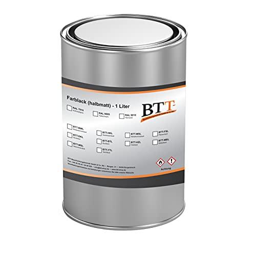 BTT-BWL Badewannenlack Ral 9010 Reinweiß Emaille Keramik Acryl Dusche Wasser Feste Badewannenbeschichtung-Farbe 1 Liter