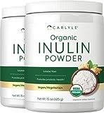 Organic Inulin Powder 30 oz   Twin Pack   Prebiotic Fiber Supplement   from Jerusalem Artichoke   Vegetarian, Non-GMO, Gluten Free   by Carlyle