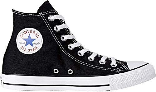 Converse Chuck Taylor All Star Hi, Zapatillas Altas Unisex adulto, Negro (Black/White), 43 EU