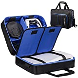 Storage Carrying Case for PS5 Accessories, Waterproof bag for Sony Playstation 5 Digital Edition/Ultra HD Game Consoles ,Storage Controllers, headset, base, remote control and cables.