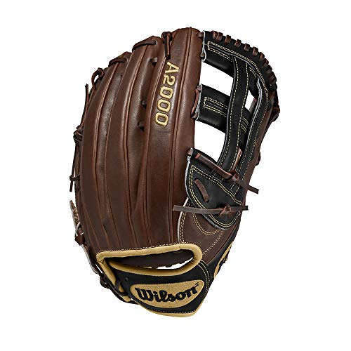Wilson A2000 12.75-Inch SuperSkin Baseball Glove, Walnut/Black/Blonde, Right (Left Hand Throw)