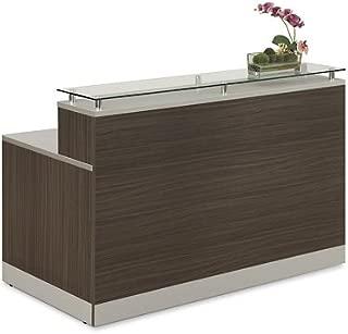 Esquire Glass Top Reception Desk 63
