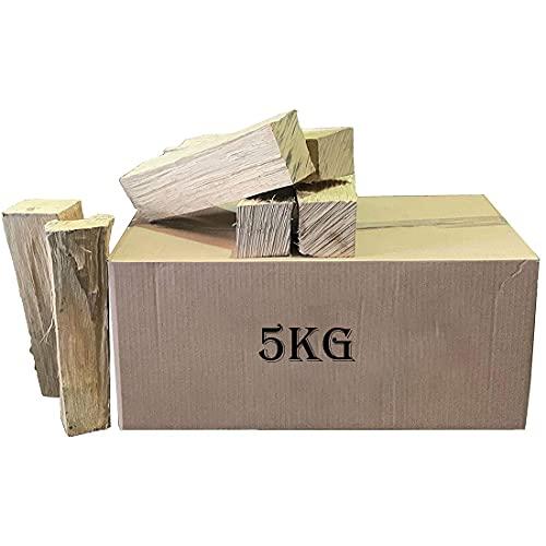 GY Woodfuels Leña Seca en Horno, Caja de 5 kg, Madera Dura para Fuegos Abiertos, Quemador de leña, fogatas y hornos de Pizza y crematori (Size : 5KG)