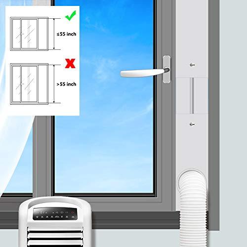 Aozzy Parabrezza Regolabile per vetrino Parabrezza per condizionatore d'Aria Piatto per condizionatore d'Aria Portatile, Kit per Pannello Finestra di Estensione (Tubo Flessibile 15CM (5,9'))