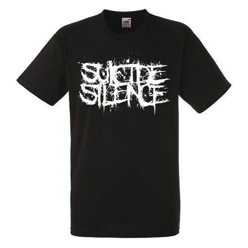 Suicide Silence Logo Black T-Shirt Rock Band Shirt Heavy Metal Tee