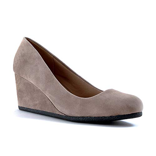Guilty Shoes - Patricia-02 Taupe Suede, 5.5