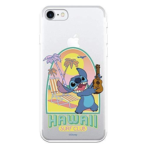 Funda para iPhone 7 - iPhone 8 Oficial de Lilo & Stitch Stitch Hawaii Surf Club para Proteger tu móvil. Carcasa para Apple de Silicona Flexible con Licencia Oficial de Disney.