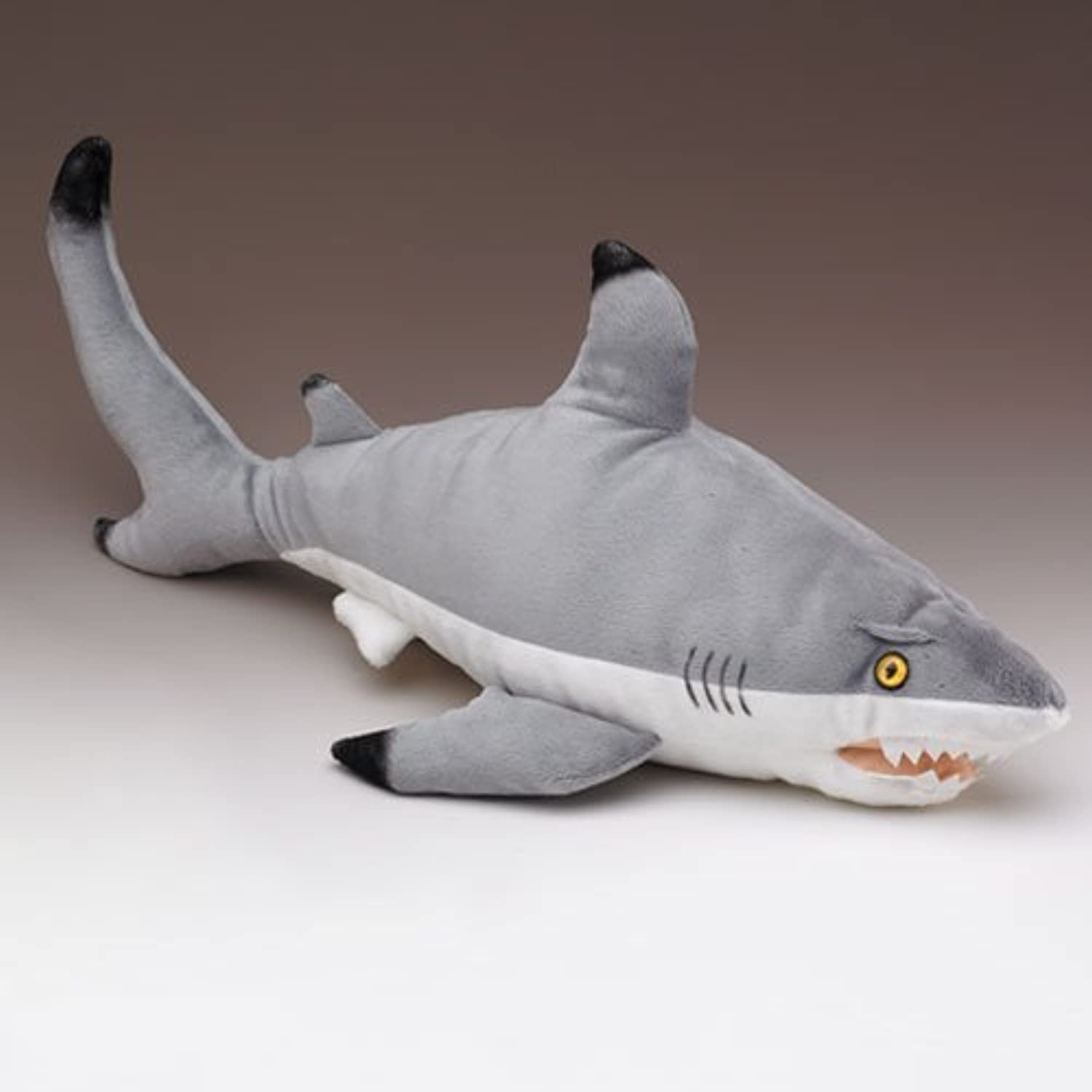 Florida Blacktip Reef Shark Big 26 Inch Plush Stuffed Animal Toy Black Tip Fish