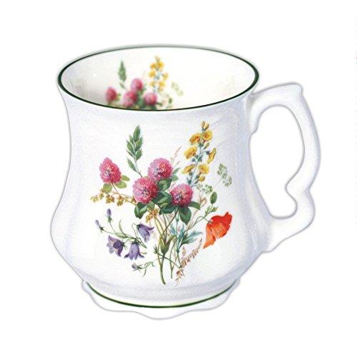 David Michael - Della nonna Grande caffe tazza di te con fiori di campo bouquet