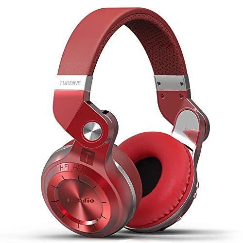 Over-Ear hoofdtelefoon met draadloze bluetooth-hoofdtelefoon, draadloos, draadloos, met microfoon voor studio, bluetooth, stereo Rood