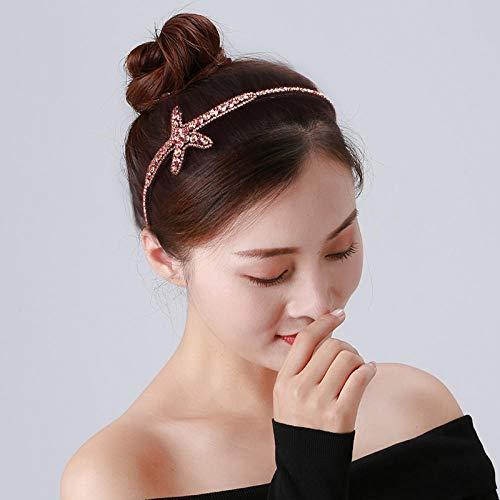 Rhinestone headband female net red hairpin Korea simple toothed anti-skid hairpin wash face curling headband clip headgear