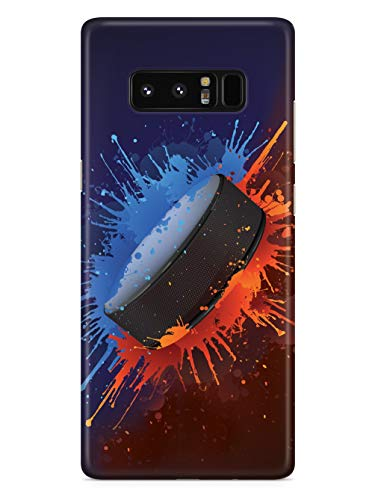 Inspired Cases - 3D Textured Galaxy Note 8 Case - Rubber Bumper Cover - Protective Phone Case for Samsung Galaxy Note 8 - Hockey Puck - Slap Shot!