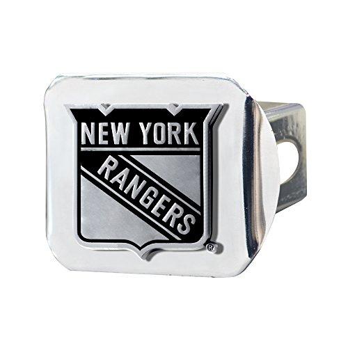 FANMATS 17168 NHL - New York Rangers Hitch Cover,Black,4 1/2