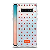 Head Case Designs Officially Licensed Emoji Rose and Skulls Wild Collection Silver Shockproof Fender Case Compatible with Samsung Galaxy S10