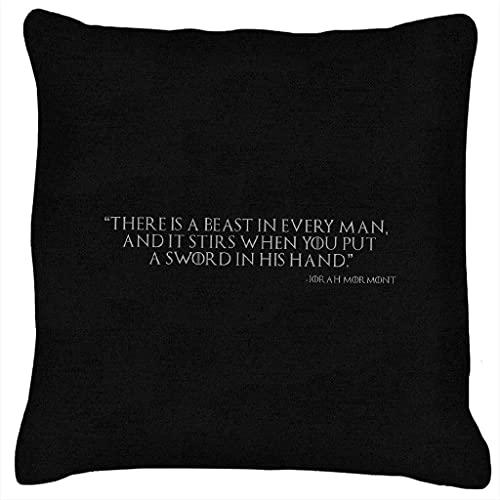 Game of Thrones Jorah Mormont A Beast In Every Man La Funda de Almohada Impresa es Suave y cómoda de 45 cm * 45 cm.