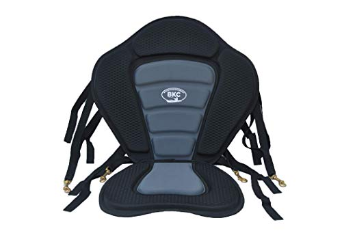 BKC UH-PS223 Universal Sit-On-Top Premium Memory Foam Padded Kayak Seat and Backrest with Adjustable Straps for Kayaking and Fishing by Brooklyn Kayak Company