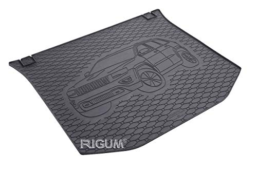 RIGUM Passgenaue Kofferraumwanne geeignet für Jeep Grand Cherokee ab 2014 + Autoschoner MONTEUR