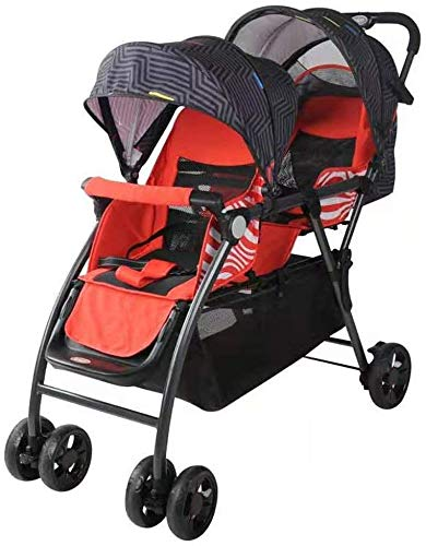 DAGCOT Baby Stroller Bassinet Pram Carriage Stroller Tandem Stroller,Best Double Stroller - Everyday Twin Stroller with Umbrella,Lightweight One-Hand Compact Fold,Compact and Easy to Maneuvers Everyda