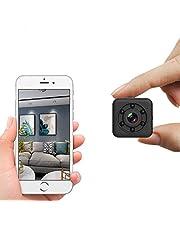 Bigvapor - Mini telecamera Wifi, telecamera nascosta WiFi senza fili, piccola videocamera portatile con visione notturna, design impermeabile fino a 30 m, per la casa, per interni ed esterni