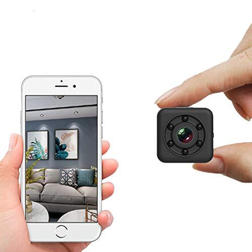 Mini cámara WiFi, cámara oculta WiFi inalámbrica pequeña grabadora de vídeo cámara portátil inalámbrica con visión nocturna, diseño impermeable de 30 m para el hogar interior y exterior