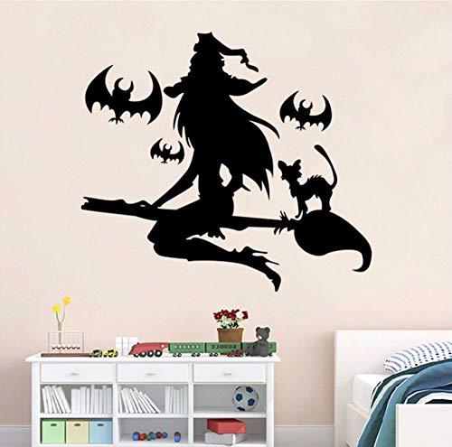 Knncch Abnehmbare Wandaufkleber Vinyl Diy Happy Halloween Wand Fenster Aufkleber Aufkleber Kunst Vinyl Hause Raumdekoration Wandbild Aufkleber 64X57 Cm