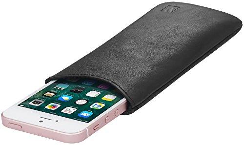 StilGut Pouch, Universal-Hülle aus feinstem Nappaleder | Sleeve Handyhülle Größe S passend für z.B. iPhone SE, iPhone 5s, Samsung Galaxy S4 Mini, u.a, Schwarz Nappa