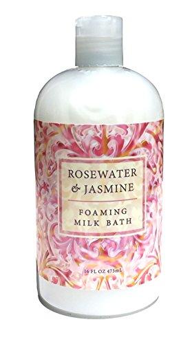 Greenwich Bay Rosewater Jasmine, Foaming Milk Bath with Buttermilk, Shea Butter and Cocoa Butter 16 oz (Relaxing Bath Milk)