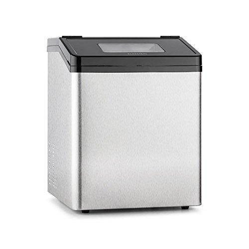 Klarstein Powericer ECO 3 macchina per il ghiaccio (fabbricatore di cubetti di ghiaccio in due dimensioni, motore da 450W, 30kg/24h, silenzioso) - acciaio inox
