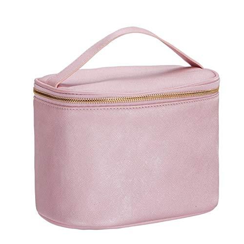 Qric Mano cosmética Tambores Bolsa de cosméticos Paquete de cosméticos admisión PU Resistente al Agua Neceser de Viaje Bolsa de cosméticos