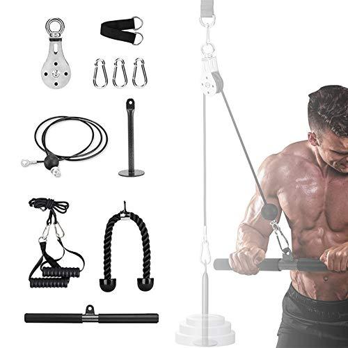 SCXLF Entrenador De Resistencia De Rodillos Equipo para Ejercicios, Multifunción DIY Polea Cable Máquina De Musculacion para Tirar hacia Abajo, Bíceps Rizo