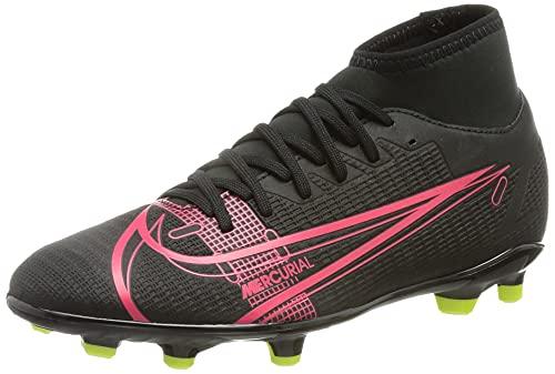 Nike Superfly 8 Club FG/MG, Zapatillas de ftbol Unisex Adulto, Black Black Cyber Siren Red, 43 EU