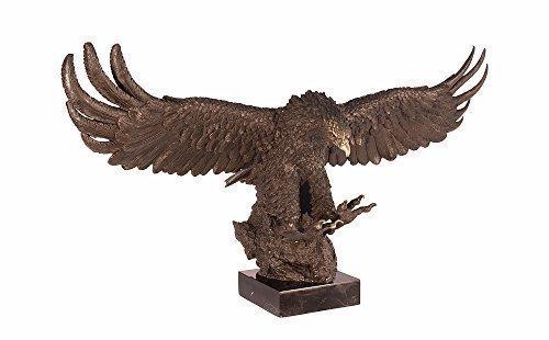 Bronzefigur Bronze Figur Statue Skulptur Adler Falke Greifvogel Antik Stil 41,5 x 73,5 cm