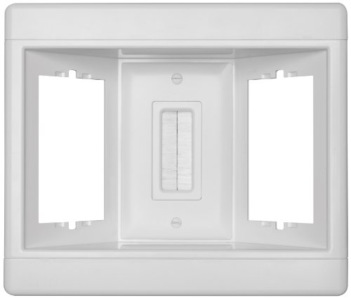 Legrand - Pass & Seymour TV3LVKITWCC2 Recessed Television Box Three Gang Low Voltage Kit Easy Installation