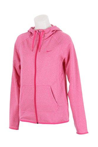 Nike Therma Sudadera con capucha y cremallera completa para mujer, para cualquier momento - 683656-693, S, Fireberry/Rosa vívido