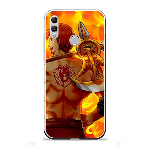 AriumClutch Soft Clear Coque Transparent Thin Rubber Shockproof Back Cover Case For Huawei P Smart 2019/Honor 10 Lite-The Seven Deadly-Sins Anime 8