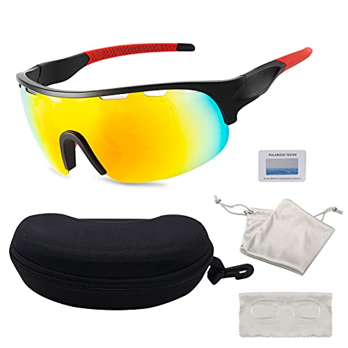 Horuili Gafas De Ciclismo,Gafas De Sol,Gafas De Ciclismo Polarizadas,Con ProteccióN UV400, Gafas Deportivas Al Aire Libre Para Ciclismo, Pesca, Golf, Unisex