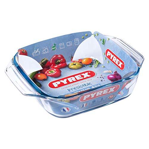 1 x Pyrex Irresistible 2.3L 2.3 Litre Square Roaster 29 x 23cm - Freezer, Oven, Microwave & Dishwasher Safe - Serves 3-4