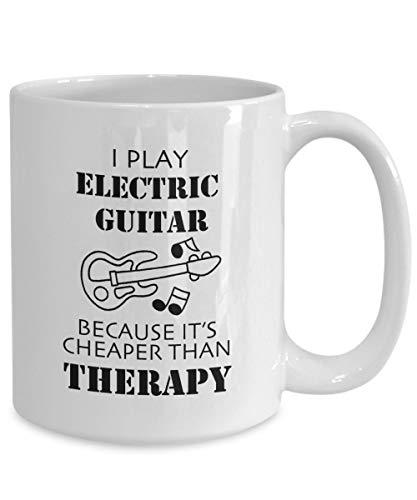Taza de guitarra eléctrica Yo juego guitarra eléctrica porque su más barato...