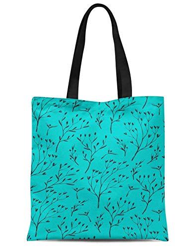 S4Sassy Verde hoya kerrii hojas bolso de compras reutilizable impreso del viaje...