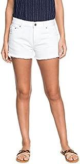 Roxy Womens Rock Crossing White Denim Shorts Erjds03177