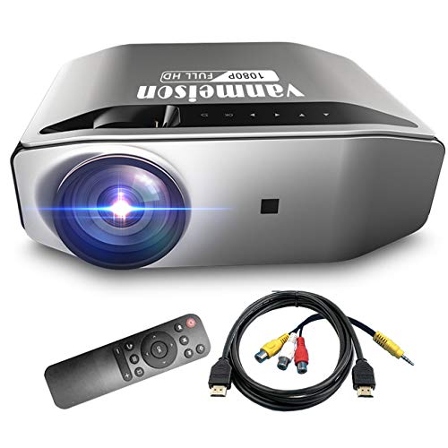 Video Projector,Vanmeison Home Theater Projector Native 1080P 6000LM Full HD Office Projector for Laptop Business PowerPoint Presentation,Compatible with TV Stick, PS4, HDMI, VGA, Xbox, AV and USB