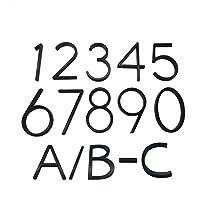 SHUHAO フローティングハウスナンバー書簡ビッグ近代ドアアルファベットホームアウトドア5 In.Black番号住所プラークダッシュスラッシュログイン (Color : Black, Size : 4)
