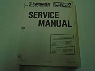 Mercury Mariner Outboards Service Manual 45 & 506070 (3 & 4 cyl.) 90-86135--5